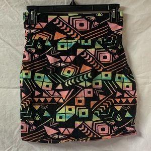 VS Pink patterned mini skirt